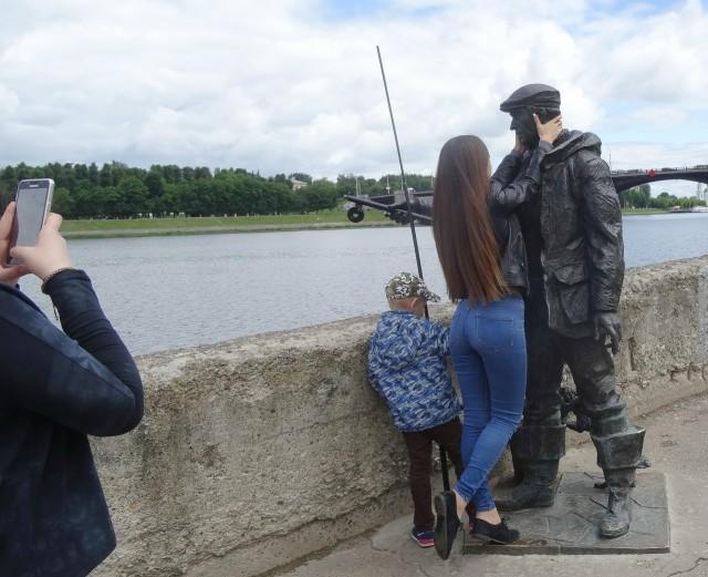 С рыбаком