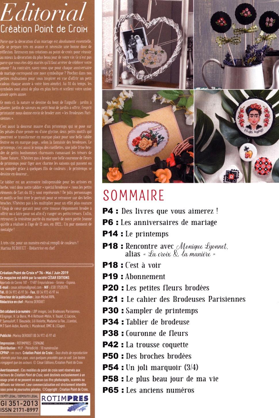 Французский журнал Creation Point de Croix №76 - 2019 (1)